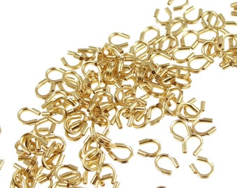 144 Gold Wire Guards  Gold Plated Wire Guardians Wire Protectors   Gold Findings  Jewelry findings(FS18)