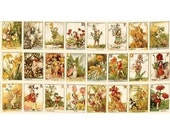 Flower Fairy Alphabet Cicely Mary Barker Fabric Panel