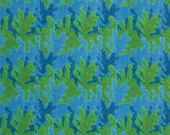 George Mendoza Serendipity Inspirations Blue and Green Fabric 1 yard