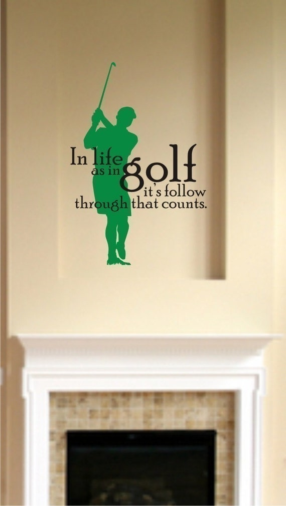 Golf Wall Decal Life As In Golf Vinyl Wall Stickers Word Art