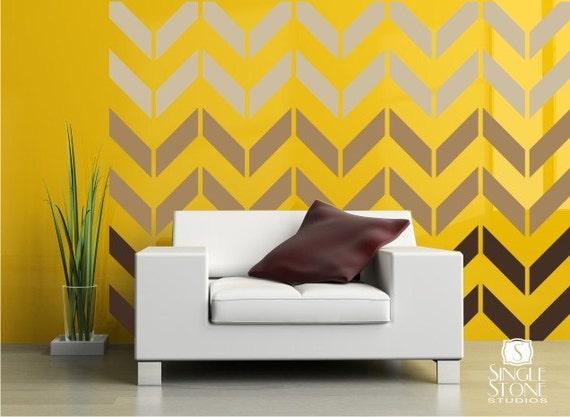 Chevron Pattern Wall Decals - Vinyl Art Stickers