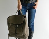 HAPPY NEW YEAR Sale  - 25% off   // Tanya in Taupe Brown // Backpack / Satchel / Rucksack / Laptop / Tote / Women/ For Her Him