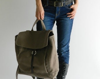 Christmas in July SALE 25%  -Tanya in Taupe Brown backpack / Backpack / Satchel Rucksack / Laptop bag  /Tote / Women/ Unisex /  School bag