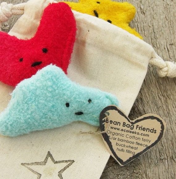 Eco Friendly Bean Bag Plush Custom Trio Waldorf Montessori Play Toys Set