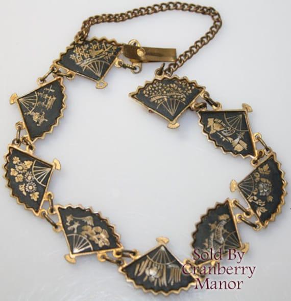 items similar to japanese komai damascene bracelet black