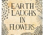earth laughs archival quality print - Small and Medium size