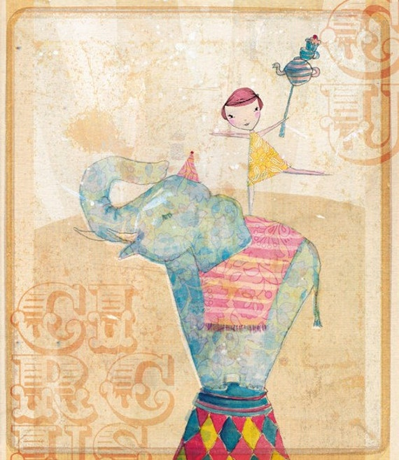 Join the circus Wall art print Sweet William illustration kids decor