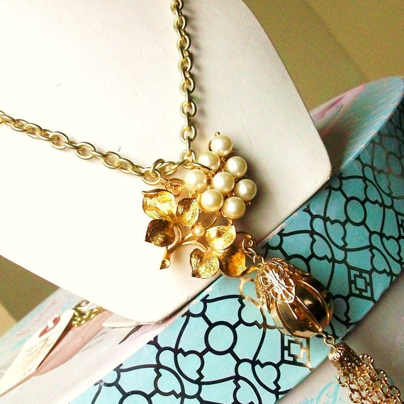 Necklace RePurposed Vintage Jewelry SouTHeRN LaDY