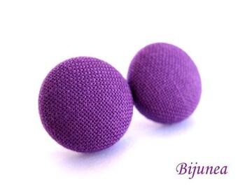 Purple earrings- Lavender stud earrings - Purple posts - Purple post earrings - Purple studs sf530