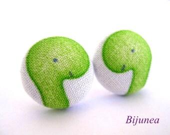 Dinosaur earrings - Green dinosaur stud earrings - Green dinosaur posts - Green dinosaur post earrings sf648