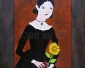 Original Folk Portrait - Anne Quincy