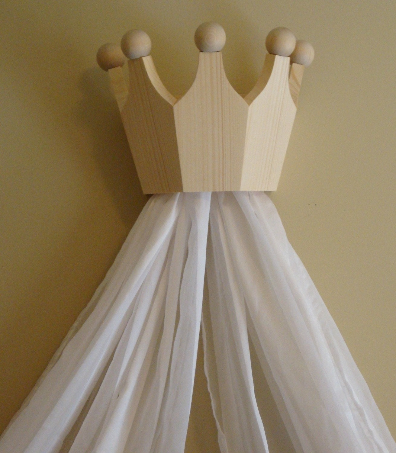 Princess Bed Canopy Girl Crown Pelmet Upholstered Awning: Princess Bed Crown / Valance / Canopy / Cornice For Nursery