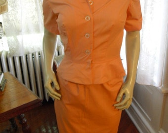 Vintage Real Rockabilly  50's   Peach Easter Suit Designer Maryell modes of Dallas Mint Condition