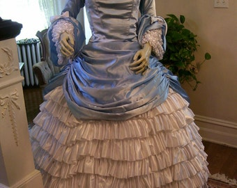 Designer 1860s Reproduction One of Kind  Southern Ball Gown By Debra Cake