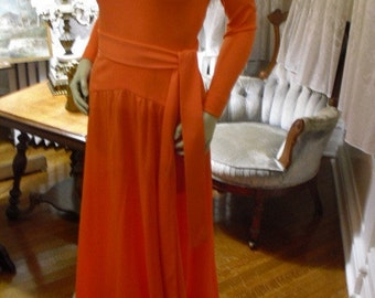 Vintage 60's 70's Maxi Designer Parade New York Gown