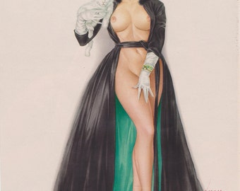 Vargas Pin-Up Girl From Playboy Feb 1966 Issue