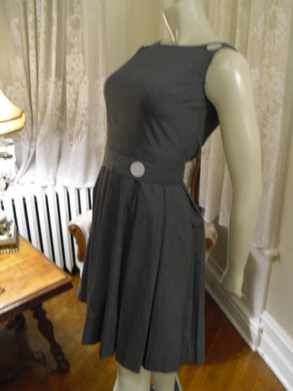 Reduced  Vintage 50's Cute  Big Button Baby Doll Dress Designer Normay  Like new
