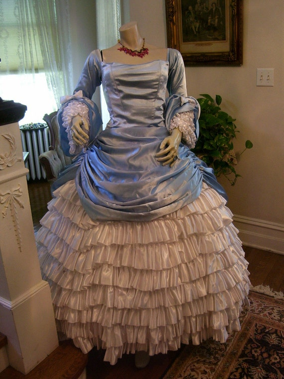 On sale .... Designer 1860s Reproduction One of Kind  Southern Ball Gown By Debra Cake