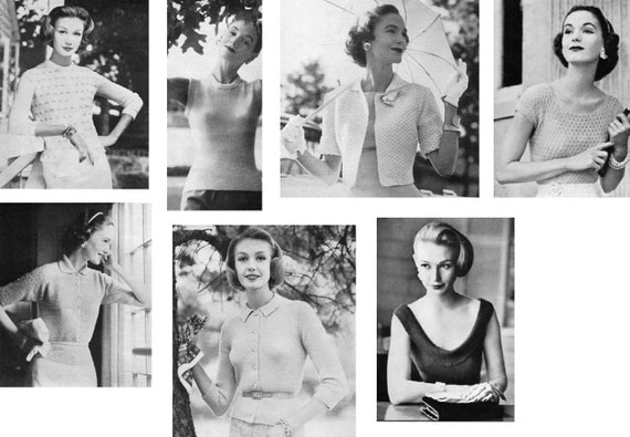 1957 Vogue Knitting Book PDF--15 Separates Patterns ONLY