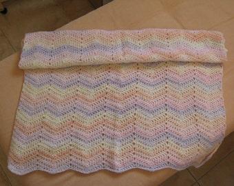 Ripple baby blanket in pastel colors