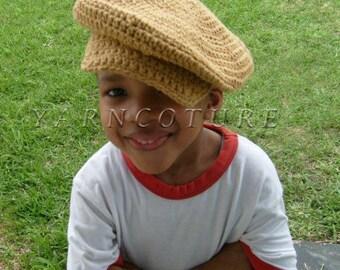 Cool Cotton Newsboy Hat/Unisex Tan Beige Color