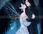 Fairy Angel Romance Art Print Sapphire