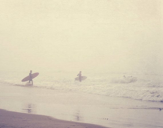 sale 25% off Venice beach photography, surfer photograph, evolution, California, ocean foggy morning grey seaside water, surfboard, dorm dec