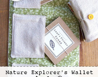 Nature Explorer's Wallet Pattern - Digital - Printable PDF