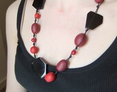 Chunky Red and Black Necklace