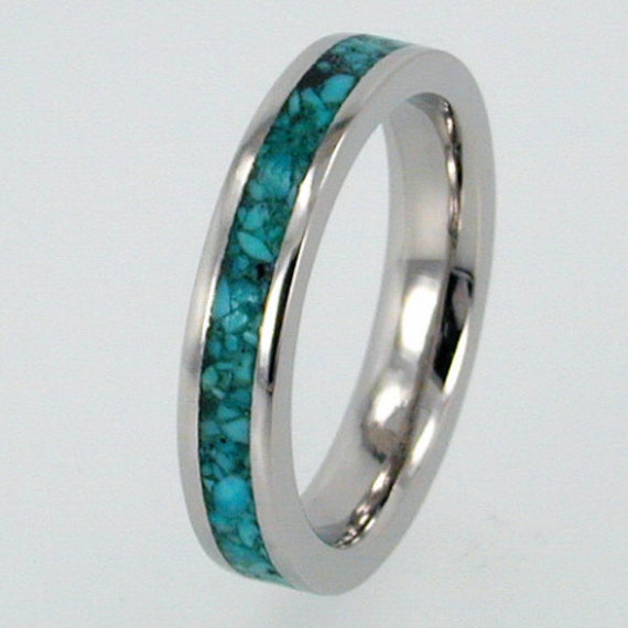 Stone Inlay Turquoise Ring