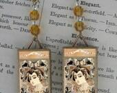 Potion Perfume GEISHA beaded earrings