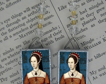 Bloody Mary Tudor Queen Earrings