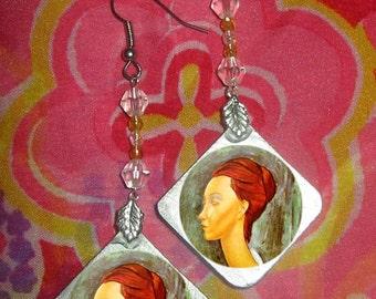 Modigliani portrait Earrings