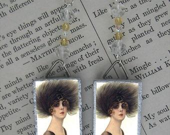 Feather Fascinator Fashion earrings