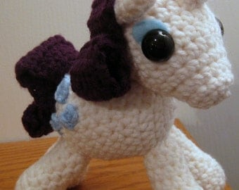 Rarity with Cutie Mark - My Little Pony Friendship is Magic Amigurumi Crocheted MLP Plush Doll