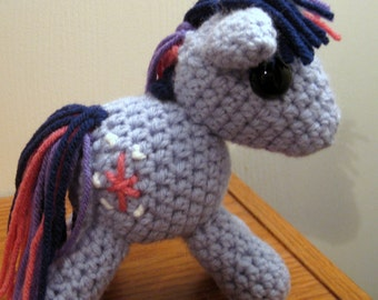 Twilight Sparkle with Cutie Mark - My Little Pony Friendship is Magic Amigurumi Crocheted MLP Plush Doll