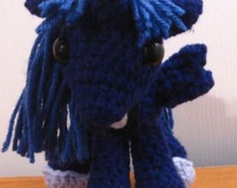 Princess Luna (Season Two) - My Little Pony Friendship is Magic Amigurumi Crocheted MLP Plush Doll