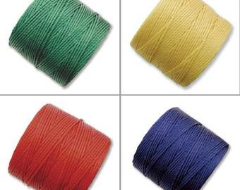S-Lon Bead Cord Primary Mixture 0.5mm Diameter 28571 (4 spools) Yellow S-lon, Kumihimo Cord, Blue Crochet Thread, Macrame Cord, Superlon