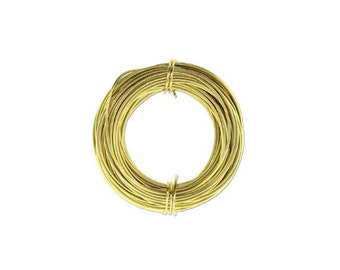 Anodized Aluminum Wire 18 Gauge Light Gold 41974 , Jewelry Wire, Craft Wire, Round Wire, Aluminium Wire, Soft Temper Wire, Anodized Wire