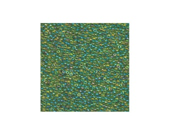 Miyuki Seed Beads 11/0 Green Lined Chartreuse AB 11-341 24g Tube Glass Size 11 Color Lined