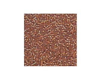 Miyuki Seed Beads 8/0 Silver-Lined Dark Gold AB 8-1004 22g Tube, Glass Seed Beads Size 8