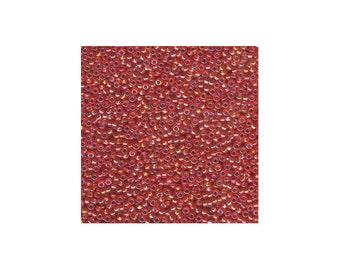 Miyuki Seed Beads 8/0 Silver-Lined Orange AB 8-1008 22g Tube, Glass Seed Beads Size 8