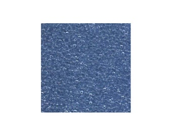 Miyuki Seed Beads 11/0 Transparent Light Cornflower Blue 11-159L 24g Tube 11/0 Glass Size 11