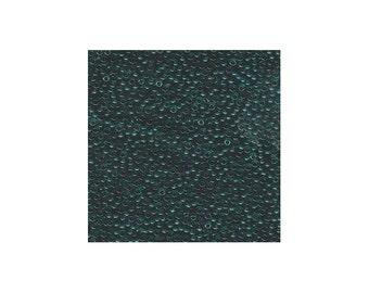 Miyuki Seed Beads 11/0 Transparent Dark Teal 11-2406 24g Japanese Seed Beads, Green Seed Beads, Glass Seed Beads, Rocaille Seed Beads