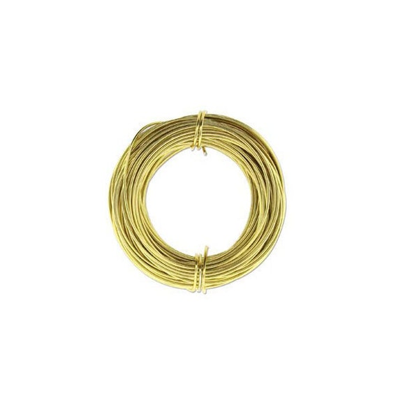Anodized Aluminum Wire 18 Gauge Light Gold 41974 Jewelry