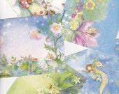 Fairies and Mermaids - set of 12 postcards   size 5 1/2 X 4 3/16