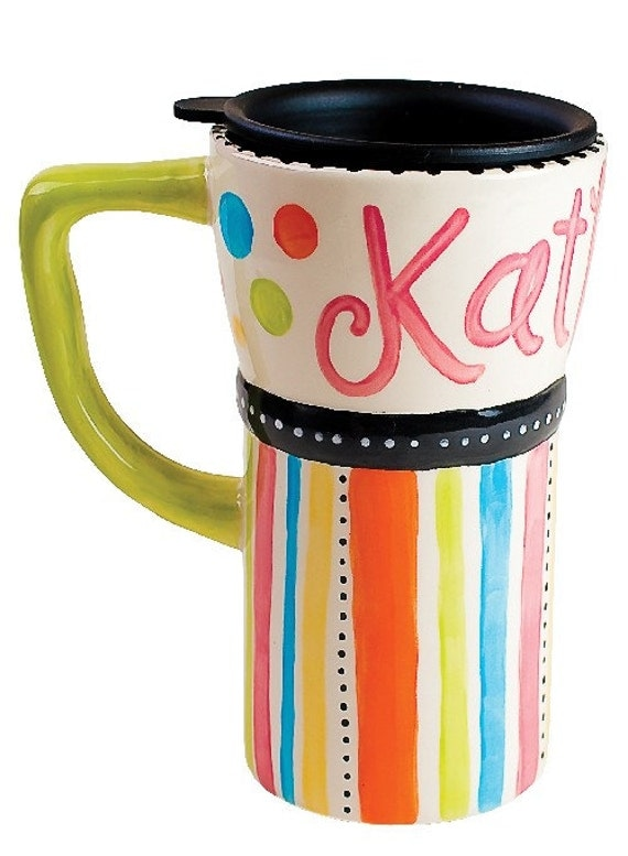 Items Similar To Personalized Travel Coffee Mug Confetti