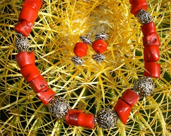 ARIZONA RED CORAL Necklace Set