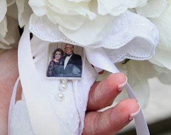 Wedding Bouquet Charm - Medium Photo Pendant - BC2