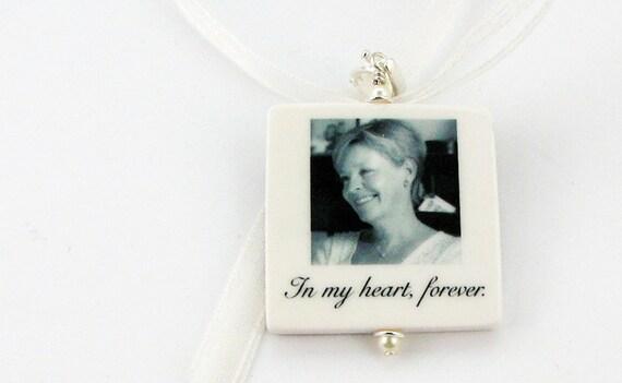 Bridal Bouquet Charm - 2 in 1 - Lg. Memorial Photo Pendant - BC1